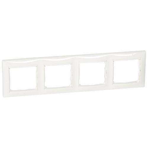 Rámeček Valena, čtyřnásobný, horizontální, bílý Legrand
