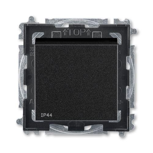 Levit spínač 6 střídavý IP44 onyx/kouřová černá