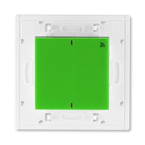 Vysílač RF jednonásobný, nástěnný, 868 MHz, zelená/kouř. černá ABB