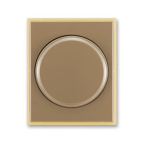 Kryt stmívače s otočným ovládáním s upevňovací maticí, kávová/ledová opálová, ABB, Element