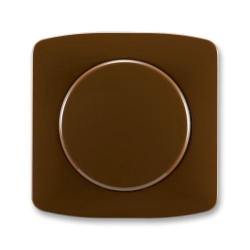 Kryt stmívače s otočným ovládáním s upevňovací maticí, hnědá, ABB Tango
