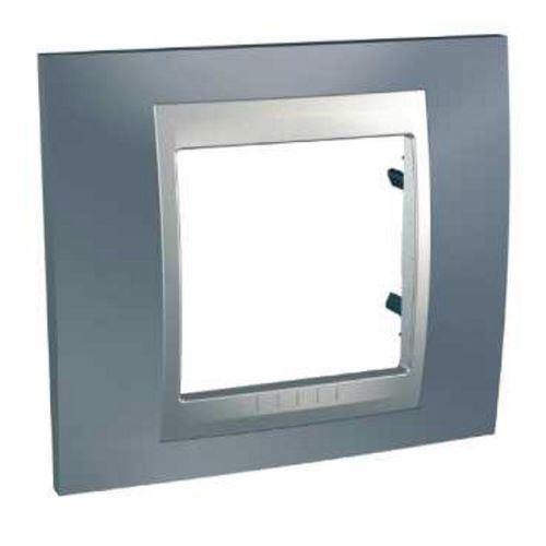 Krycí rámeček Top jednonásobný, Metal Grey/Alu Schneider