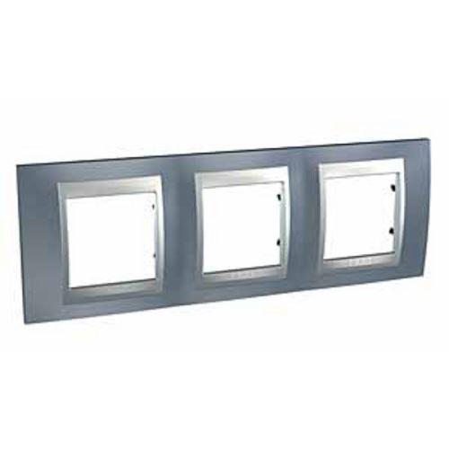 Krycí rámeček Top trojnásobný, Metal Grey/Alu Schneider