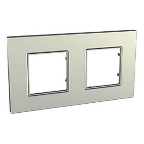 Krycí rámeček Quadro dvojnásobný, Titanium Schneider