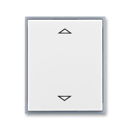 Kryt stmívače žaluziového B-J s krátkocestným ovladačem, bílá/ledová šedá, ABB, Element