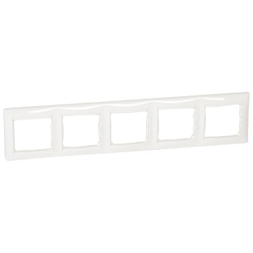 Rámeček Valena, pětinásobný, horizontální, bílý Legrand