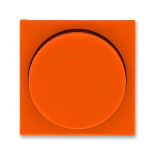 Kryt stmívače s otočným ovladačem, oranžová/kouřová černá, ABB Levit