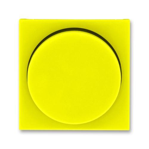 Kryt stmívače s otočným ovladačem, žlutá/kouřová černá, ABB Levit