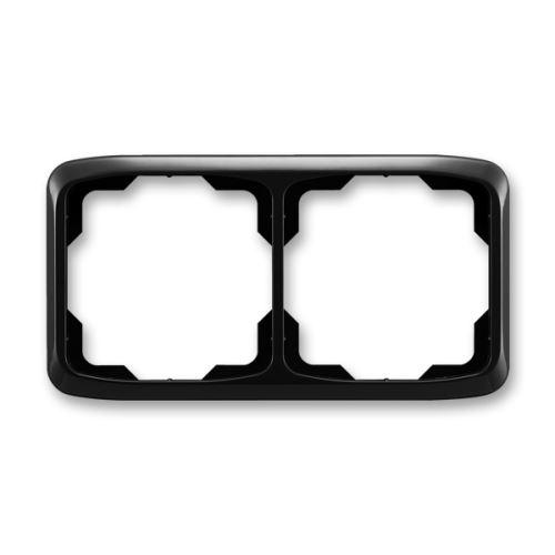 Rámeček dvojnásobný vodorovný, černá, ABB Tango