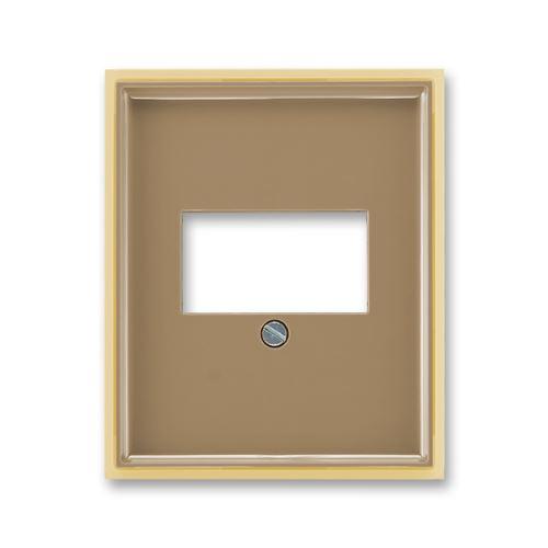 Kryt zásuvky reproduktorové, komunikační přímé nebo přístroje USB, kávová/ledová opálová, ABB, Element