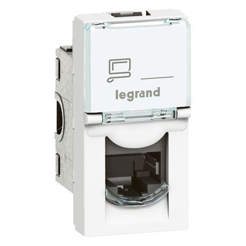 MOSN Zásuvka 1xRJ45 FTP C5E 1M bílá Legrand Mosaic