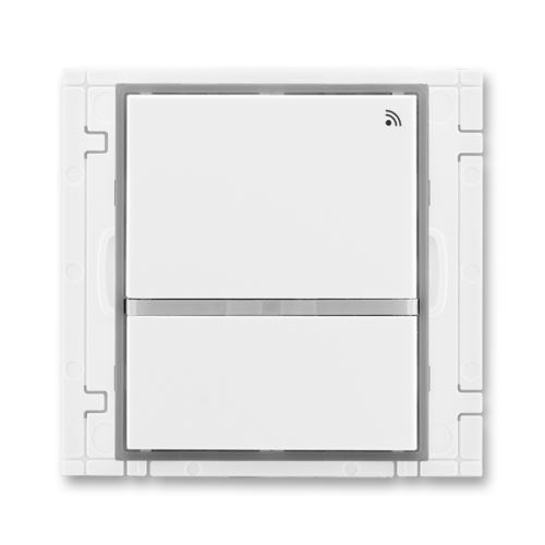 Vysílač RF dvojtlačítkový, nástěnný, 868 MHz, bílá/ledová šedá, ABB, Element