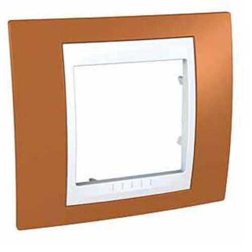 Krycí rámeček Plus jednonásobný, Orange/polar Schneider