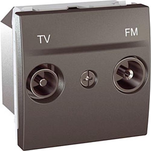 Zásuvka TV-R, koncová, Grafit Schneider