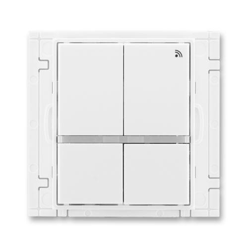 Vysílač RF čtyřtlačítkový, nástěnný, 868 MHz, bílá/bílá, ABB Element, Time