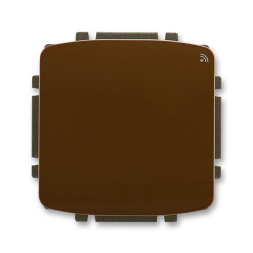 Spínač s krátkocestným ovladačem, s RF přijímačem, 868 MHz, hnědá, ABB Tango