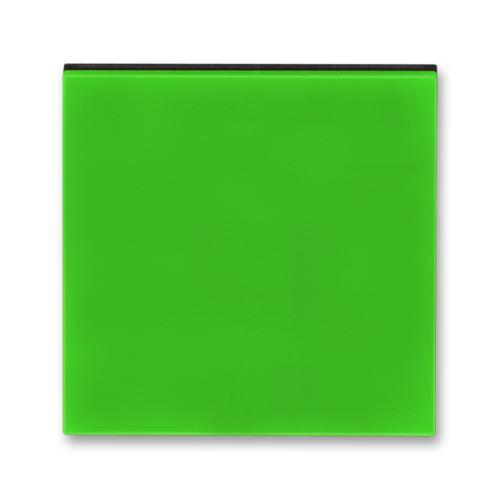 Kryt stmívače s krátkocestným ovladačem, zelená/kouřová černá, ABB Levit