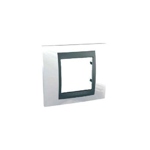 Krycí rámeček Top jednonásobný, White/Grafit Schneider