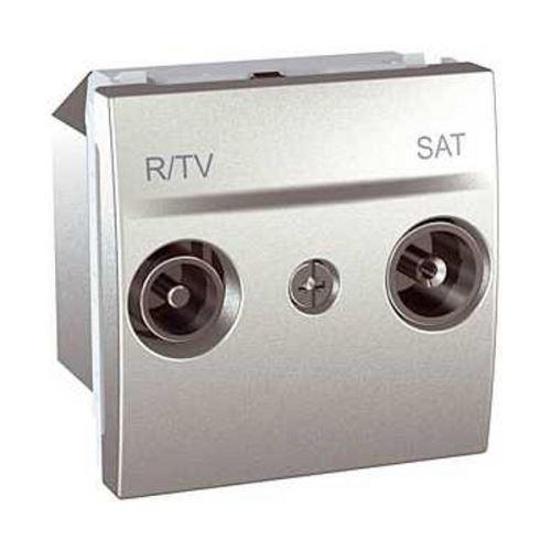 Zásuvka TV/R-SAT, koncová, Alu Schneider