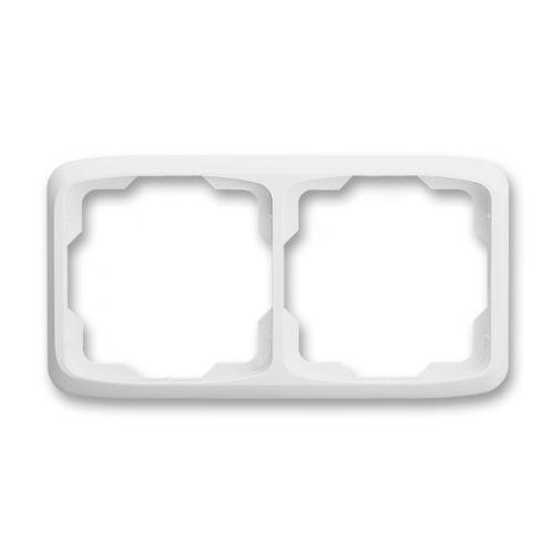 Rámeček dvojnásobný vodorovný, bílá, ABB Tango