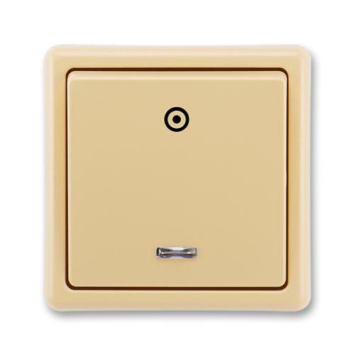Tlačítkový ovládač zapínací s orient. dout., řazení 1/0So, béžová, ABB Classic