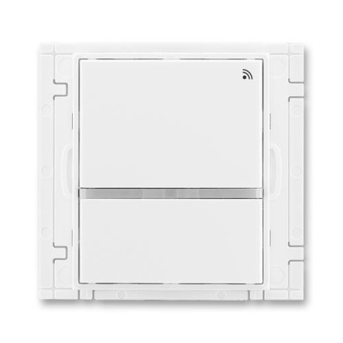 Vysílač RF dvojtlačítkový, nástěnný, 868 MHz, bílá/bílá, ABB Element, Time