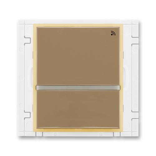 Vysílač RF dvojtlačítkový, nástěnný, 868 MHz, kávová/ledová opálová, ABB, Element