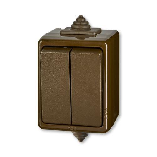 Přepínač střídavý dvojitý IP 44 ABB