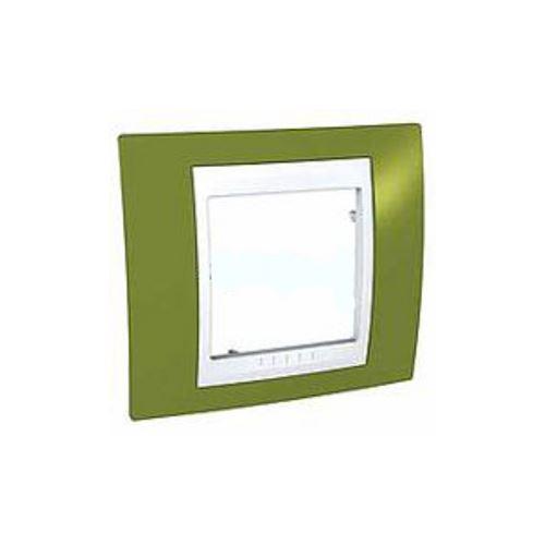 Krycí rámeček Plus jednonásobný, Pistacio/Polar Schneider