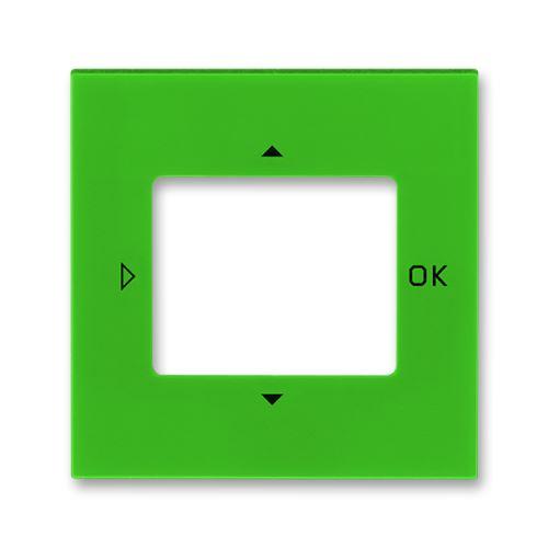 Kryt ovladače časovače komfortního nebo časovače Busch-Timer, zelená/kouř. černá, ABB Levit