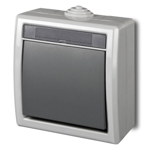 ATLAS IP55 Přepínač střídavý č.6, šedý