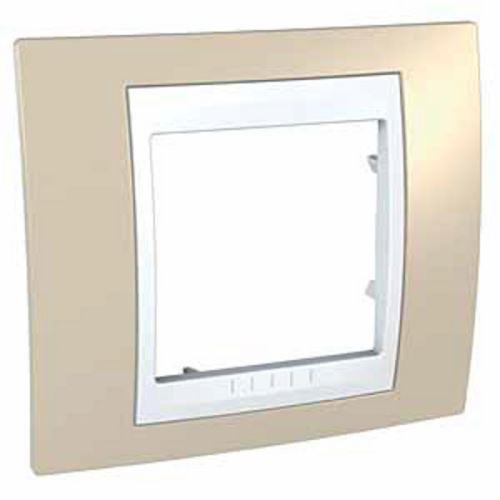 Krycí rámeček Plus jednonásobný, Arena/Polar Schneider