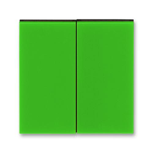 Kryt dělený, zelená/kouřová černá, ABB Levit
