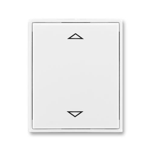 Kryt stmívače žaluziového B-J s krátkocestným ovladačem, bílá/bílá, ABB, Element, Time