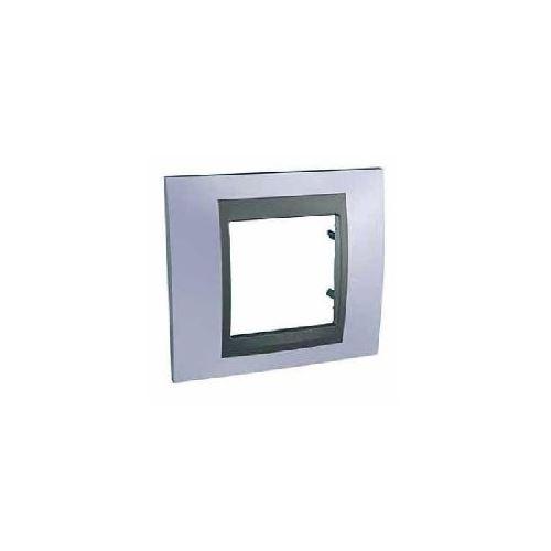 Krycí rámeček Top jednonásobný, Beryl blue/Grafit Schneider