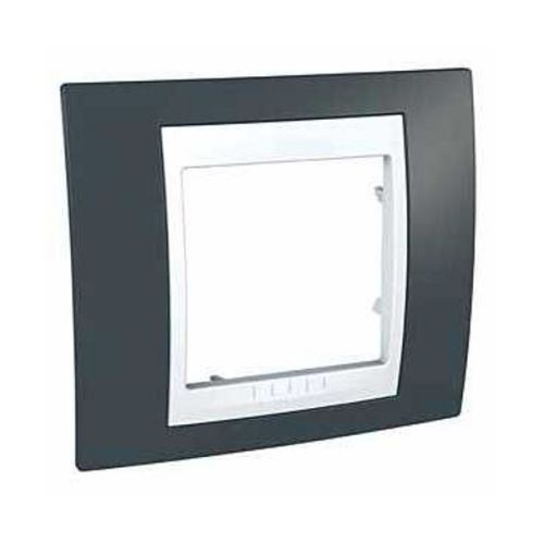Krycí rámeček Plus jednonásobný, Slate/Polar Schneider