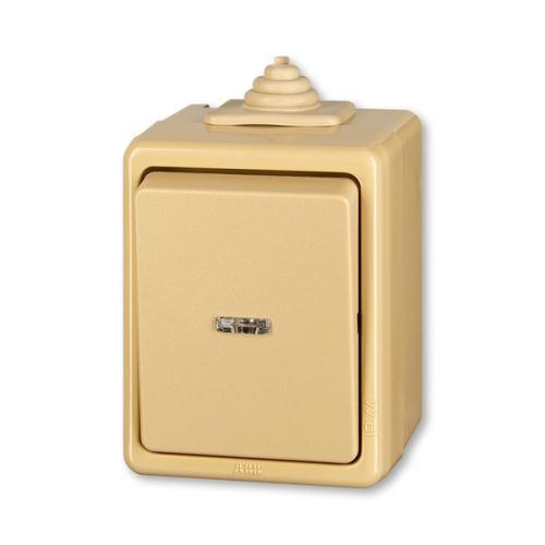 Přepínač Praktik střídavý IP 44, s čirým průzorem ABB