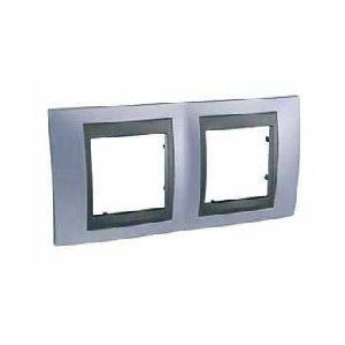 Krycí rámeček Top dvojnásobný, Beryl blue/Grafit Schneider