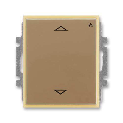 Spínač žaluziový s krátkocestným ovladačem, s RF přijímačem pro 868 MHz, kávová/ledová opálová, ABB, Element