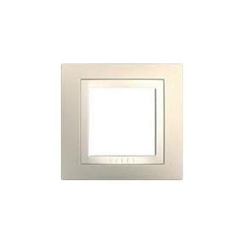 Krycí rámeček jednonásobný kompletní Cream/Marfil Schneider