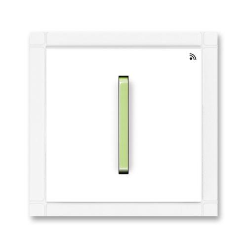 Vysílač RF jednonásobný, nástěnný, 868 MHz, bílá/ledová zelená, ABB Neo