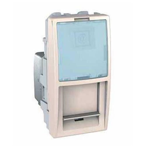 Zásuvka datová 1xRJ45 S-One, kat.5e UTP, 1modul, marfil Schneider