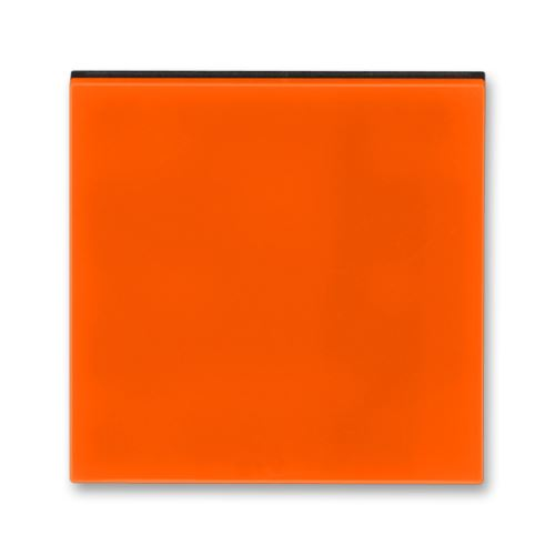 Kryt stmívače s krátkocestným ovladačem, oranžová/kouřová černá, ABB Levit