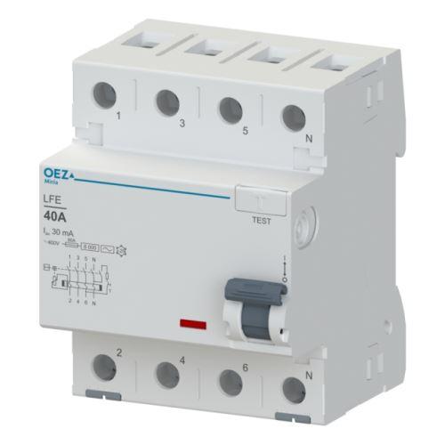 Chránič proudový 4p  40A  30mA typ AC LFE