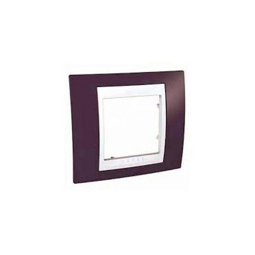 Krycí rámeček Plus jednonásobný,Garnet/Polar Schneider