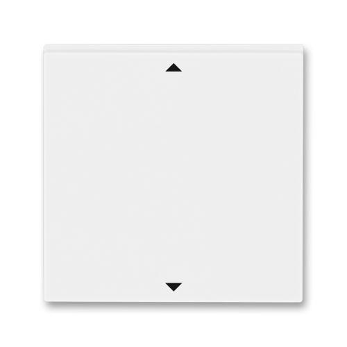Kryt spínače žaluziového Busch-Jalousiecontrol II s krátkocestným ovládáním, bílá/bílá, ABB Levit