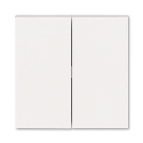 Kryt dělený, perleťová/ledová bílá, ABB Levit M