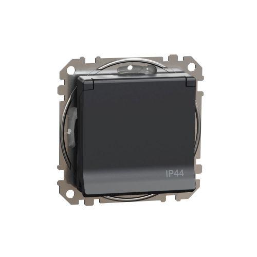 Sedna Design zásuvka 1-násobná s clonkami víčko IP44 bezšroub. antr.