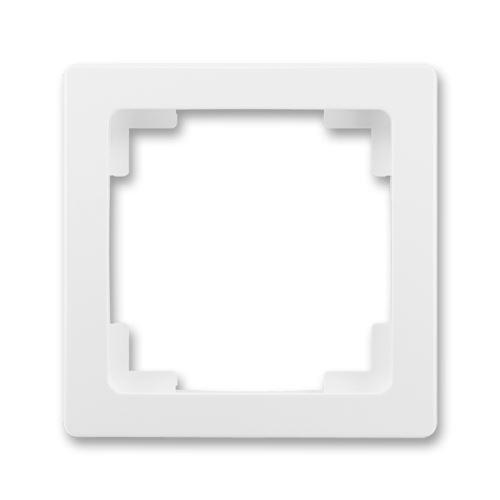 Rámeček jednonásobný, jasně bílá, ABB Swing L