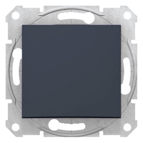 Ovládač tlačítkový, ř. 1/0, graphite Schneider Sedna